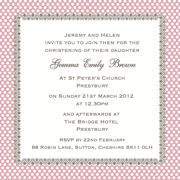 Cococards christening invitation wording just some ideas the guest specific invitation stopboris Gallery