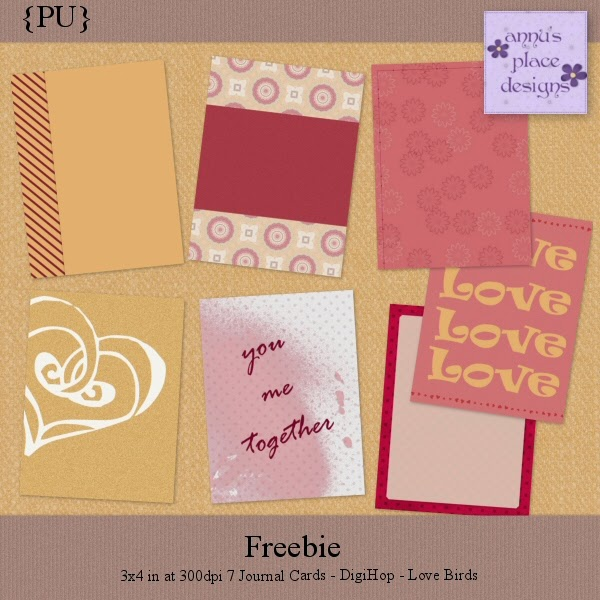 DigiHop Blog Train Freebie - Love Birds