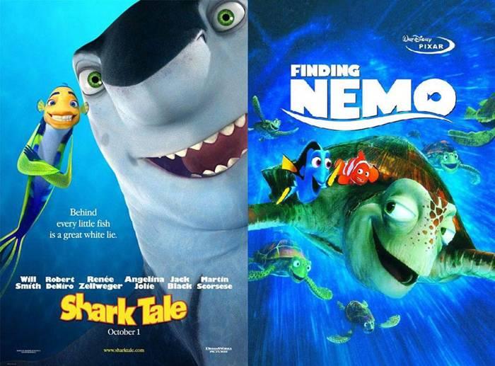 10. Shark Tale | Finding Nemo – 2004/2003