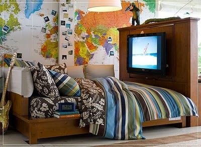 Decore interessantes projetos adolescentes para quarto for Funky boys bedroom ideas