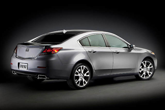 2012 Acura TL Side Rear View