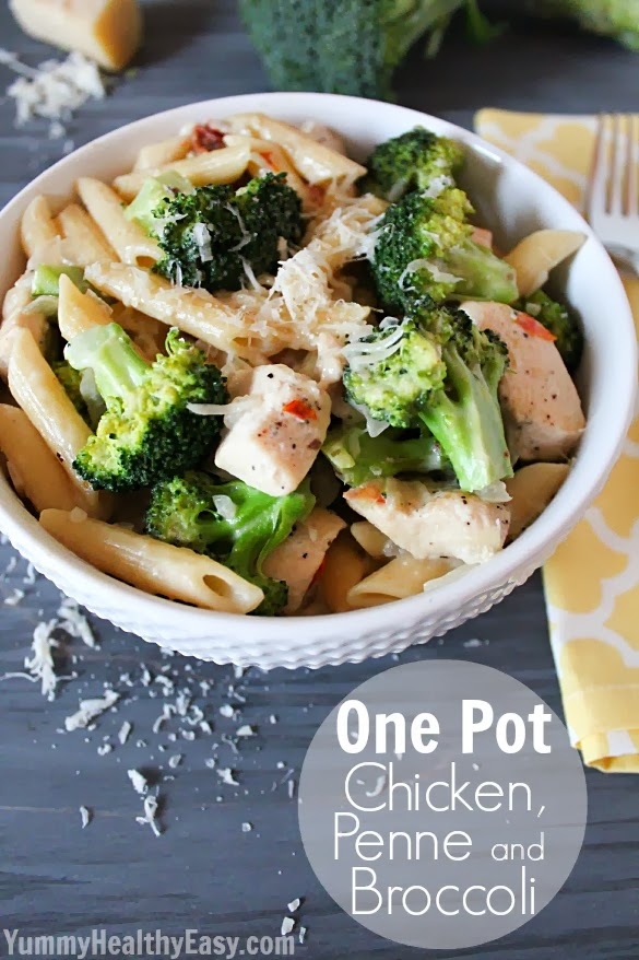 One Pot Chicken Penne And Broccoli Classy Clutter