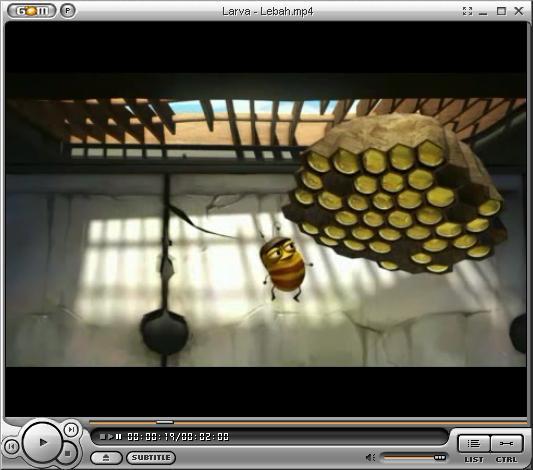 Larva Cartoon - Lebah ~ ADHE GRATIS