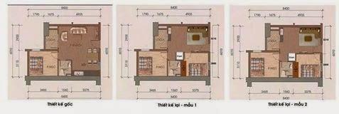 thiết kế căn hộ 47m chung cư hh1b linh đàm