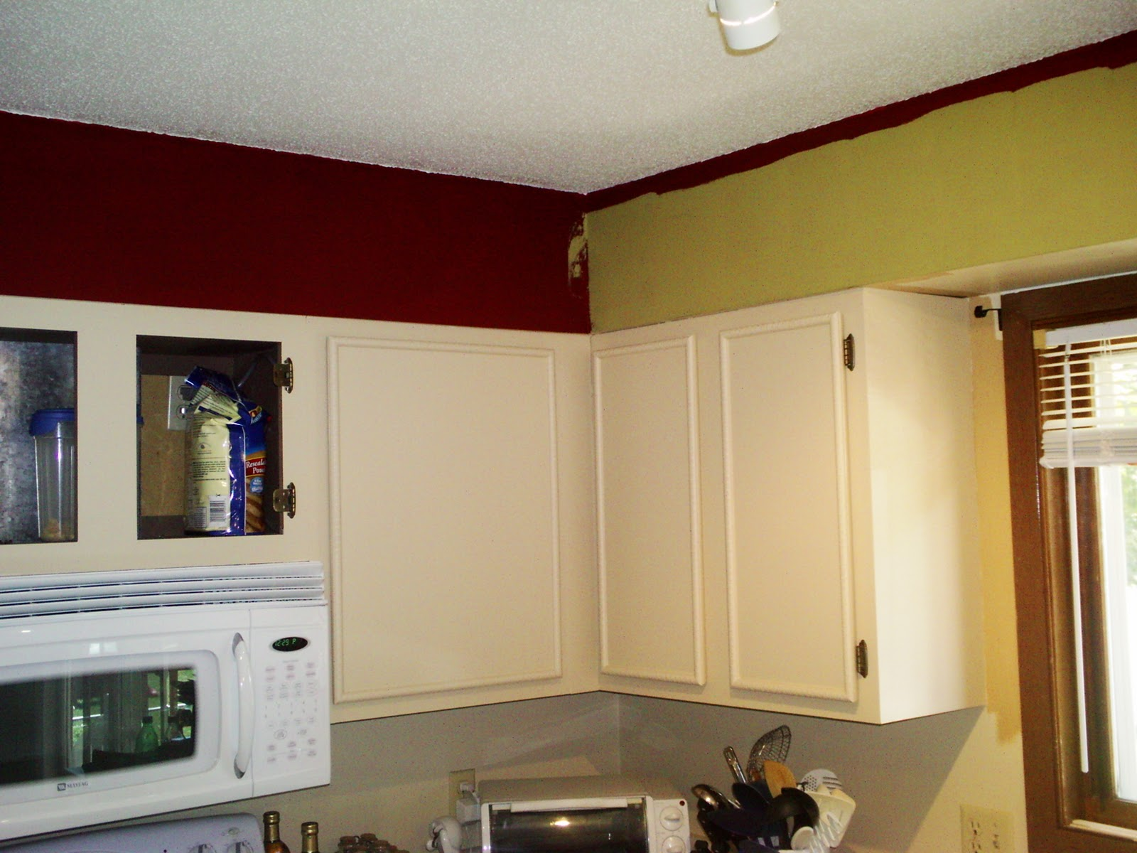 We also painted the walls an olive green.