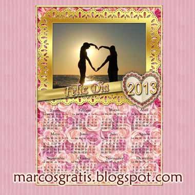 Calendario 2013 para Imprimir. En psd y png, ideal celebraciones.