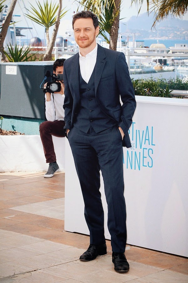 James McAvoy in Burberry - The Disappearance Of Eleanor Rigby Photocall, The 67th Annual Cannes Film Festival #Cannes2014