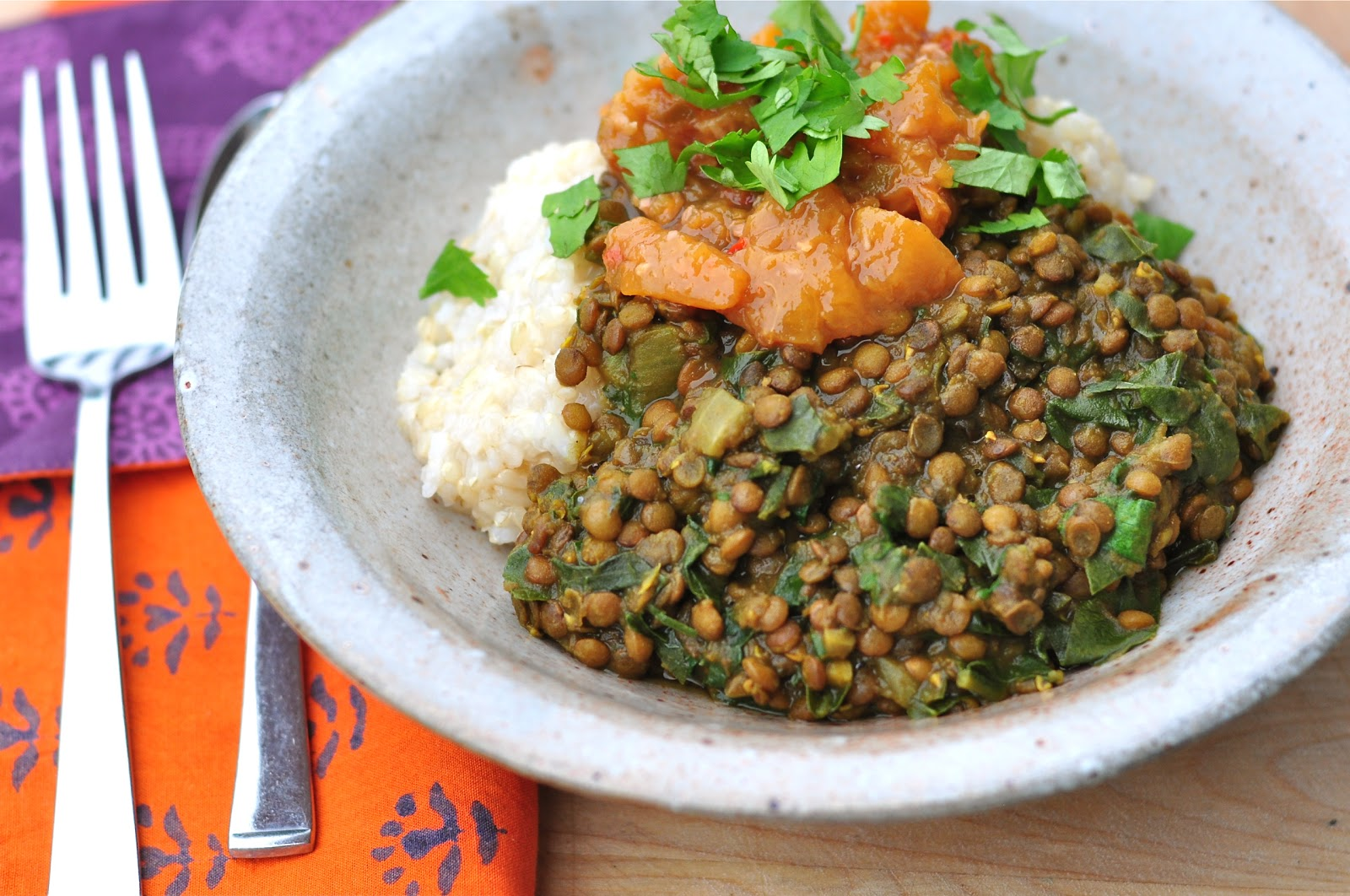Recipes of dishes from lentils