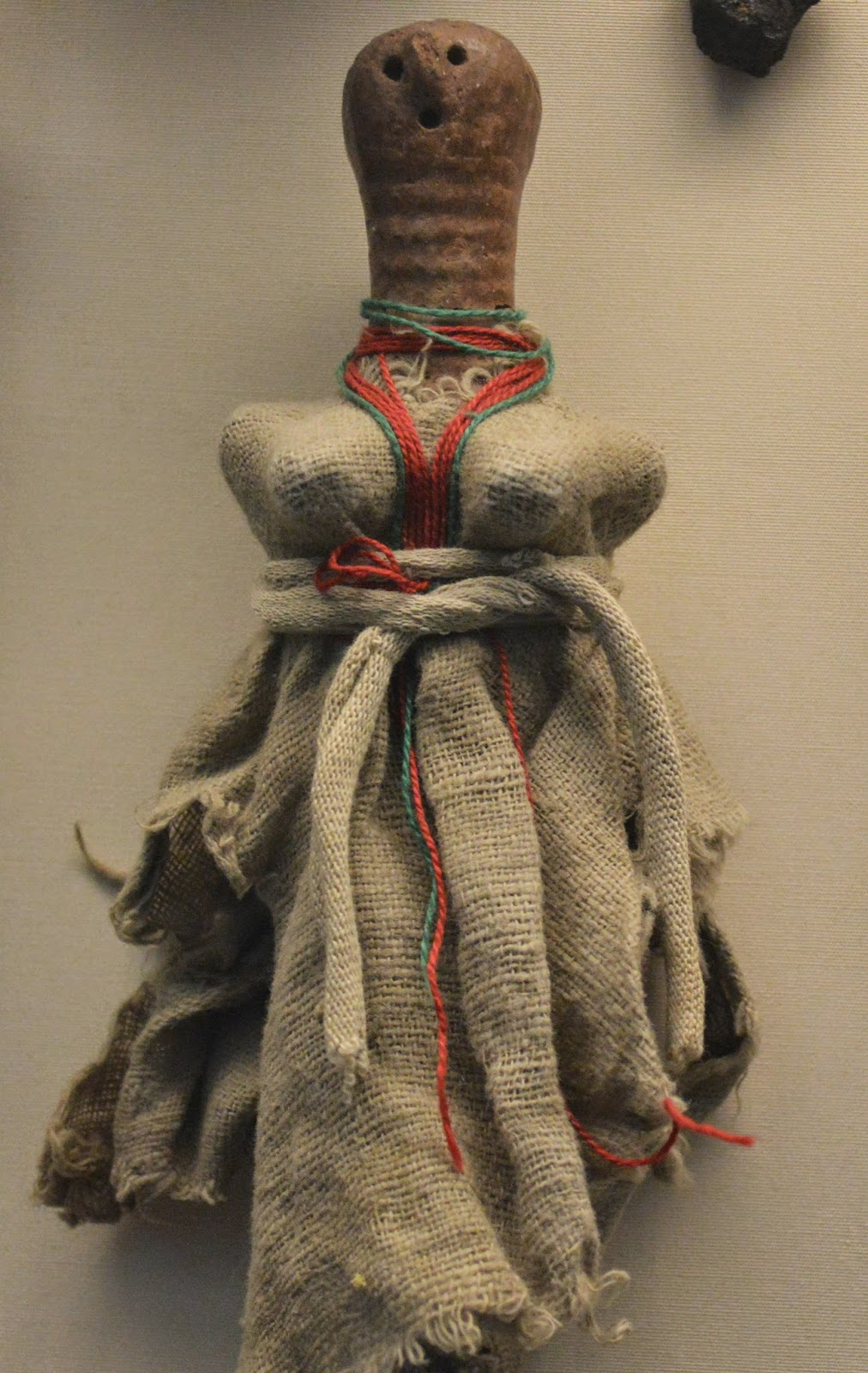 British Museum, African, clay doll, photograph