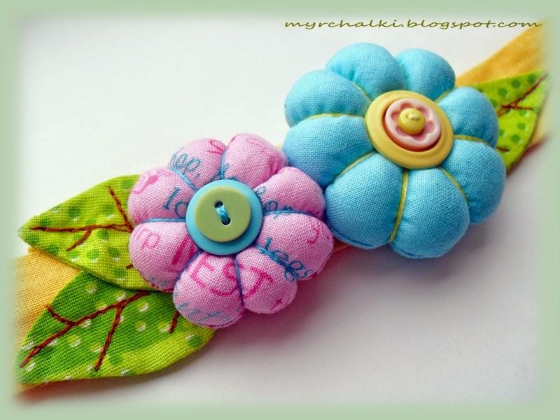 повязка на голову с цветами своими руками