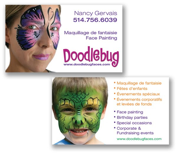 Doodlebug face painting for Face painting business