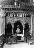 Antigua capilla de la Santina en Covadonga (incendiada)