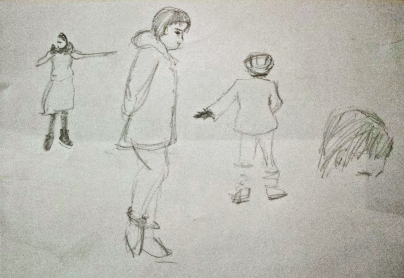 Line Drawing Yarn : Mytexturedworld: trying to draw moving people