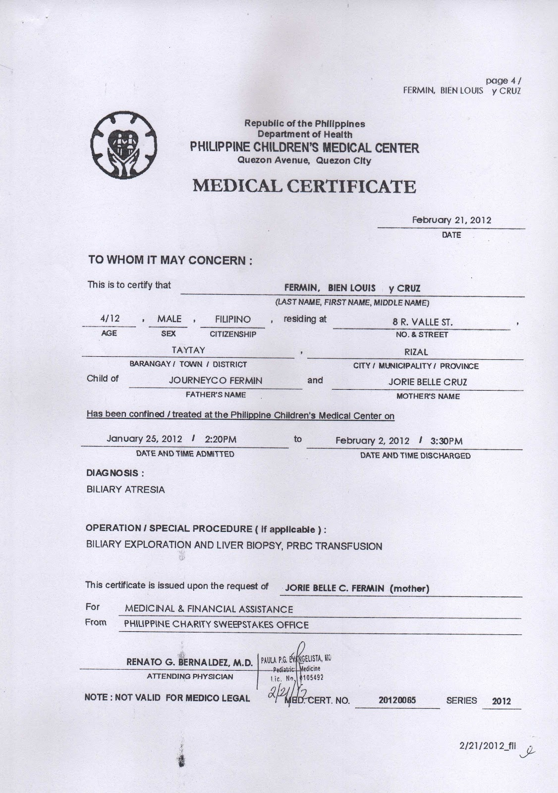 Doctor Certificate Templates