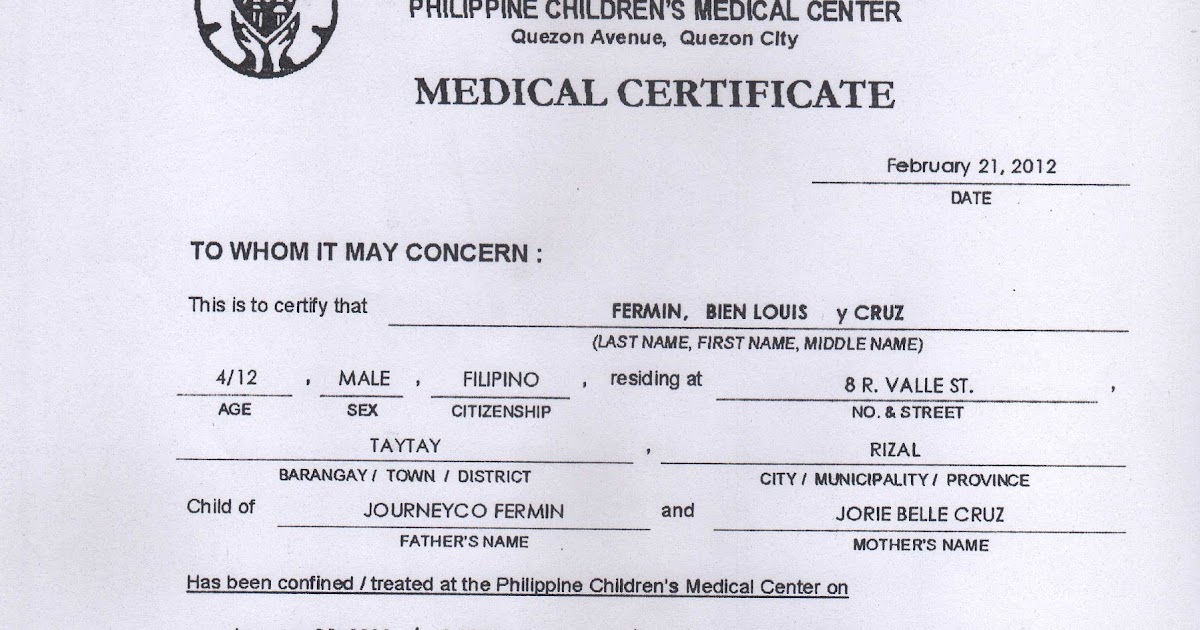 medical cetificate
