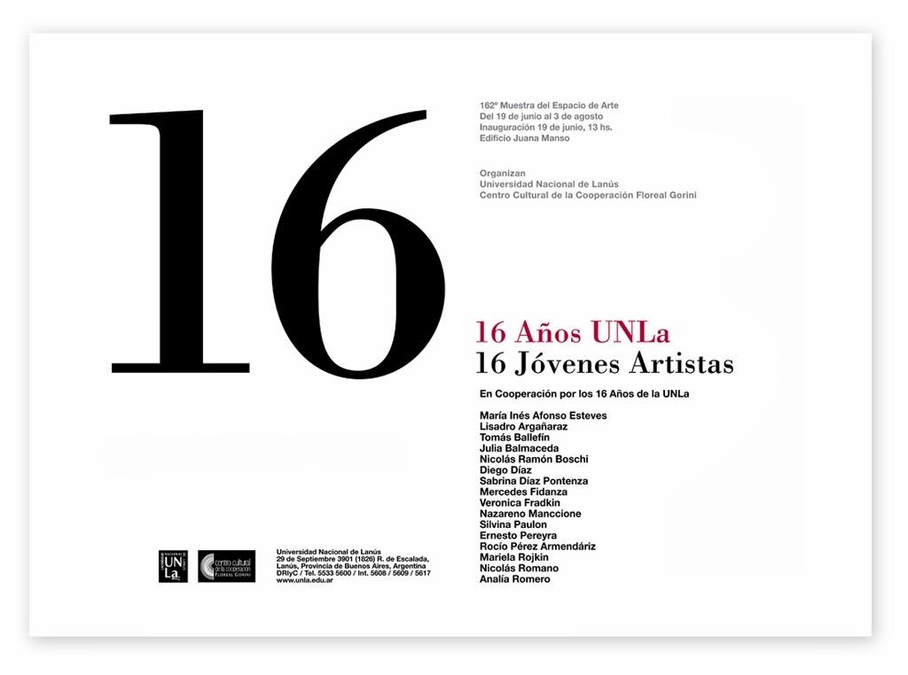Catálogo Muestra 16 años UNLa