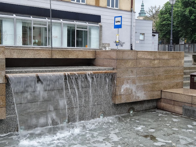 Kaskada wodna na placu Artystów