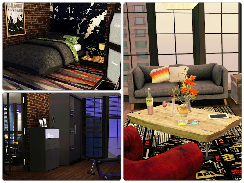 My Sims 3 Blog: City Beat Apartment by Simsberry title=