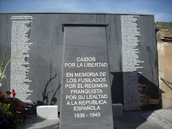 IN MEMORIA A LOS REPUBLICANOS FUSILADOS POR EL REGIMEN FRANQUISTA EN CARTAGENA