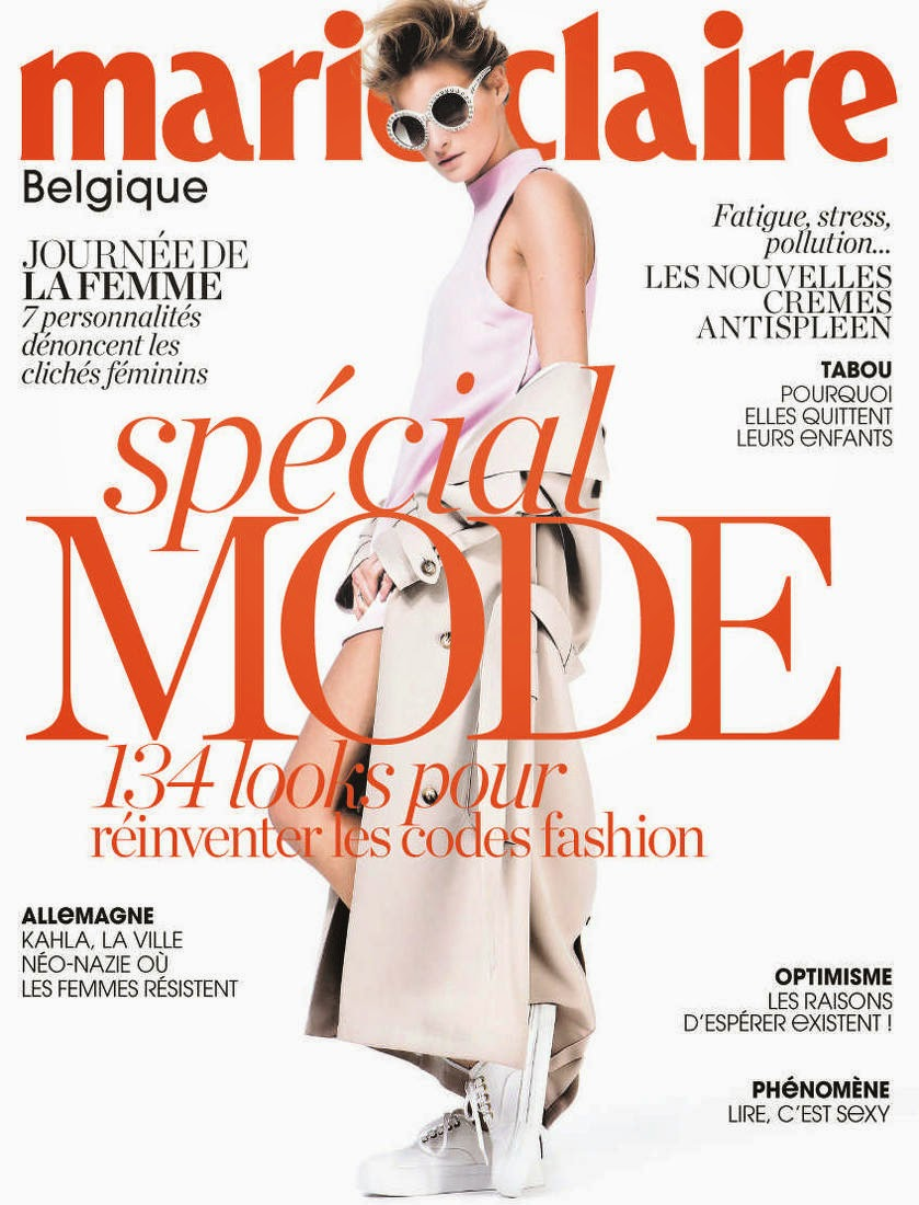 Fashion Model @ Marine Van Outryve - Marie Claire, Belgium, March 2015