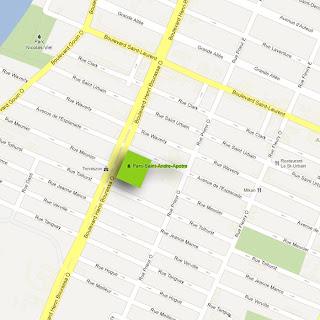 Carte Parc St-Andre apotre