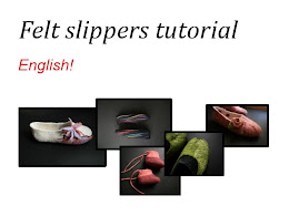 Get my felt slippers tutorial