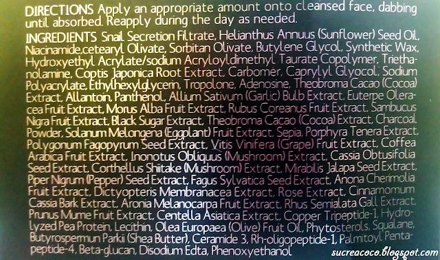 Mizon All in one BLACK snail repair cream ~ Comparaison avec l'original
