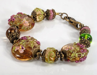 handmade lampwork beads jewelry bracelet