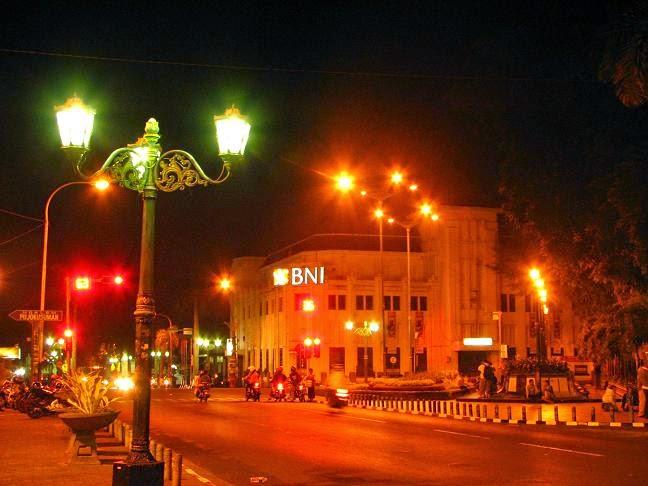 Kondisi Jalan Malioboro di Malam Hari, malioboro