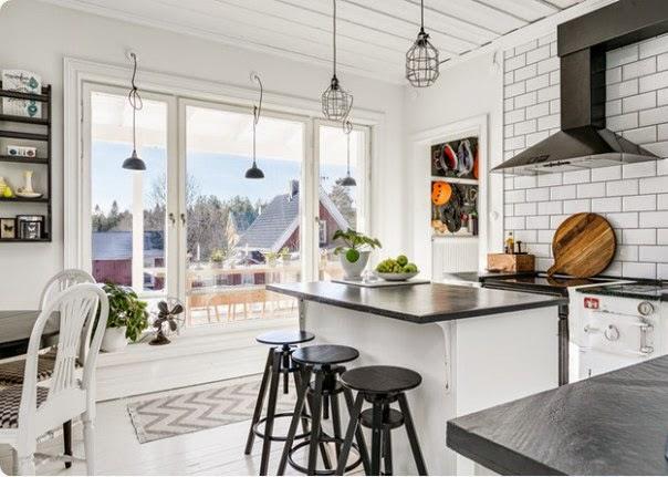 Cocina con decoración nórdica