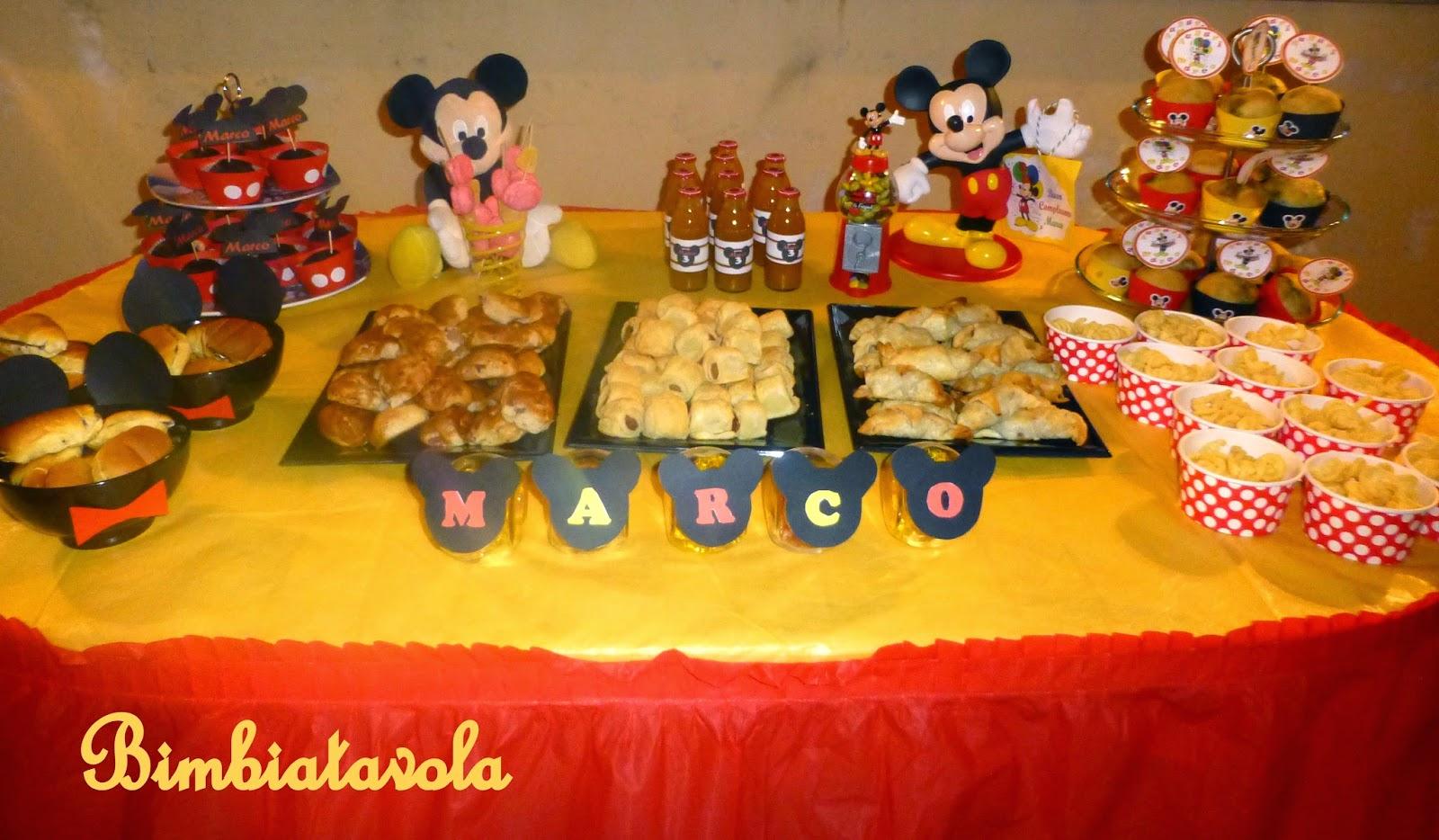 Tavolo Compleanno Topolino : Bimbi a tavola festa a tema topolino mickey mouse party