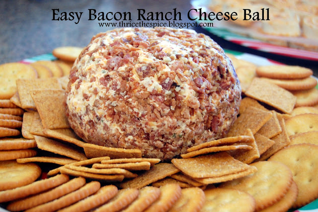 ThriceTheSpice: Easy Bacon Ranch Cheese Ball