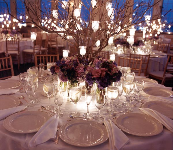 fall wedding decor candle centrepieces