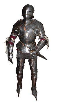 Las diferentes partes de la armadura concosas que forman parte de