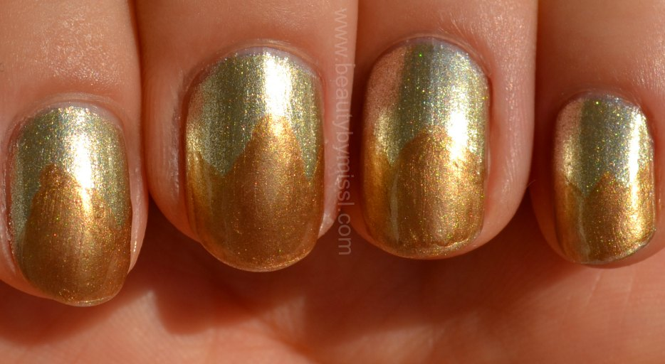 golden nails, notd, nails of the day