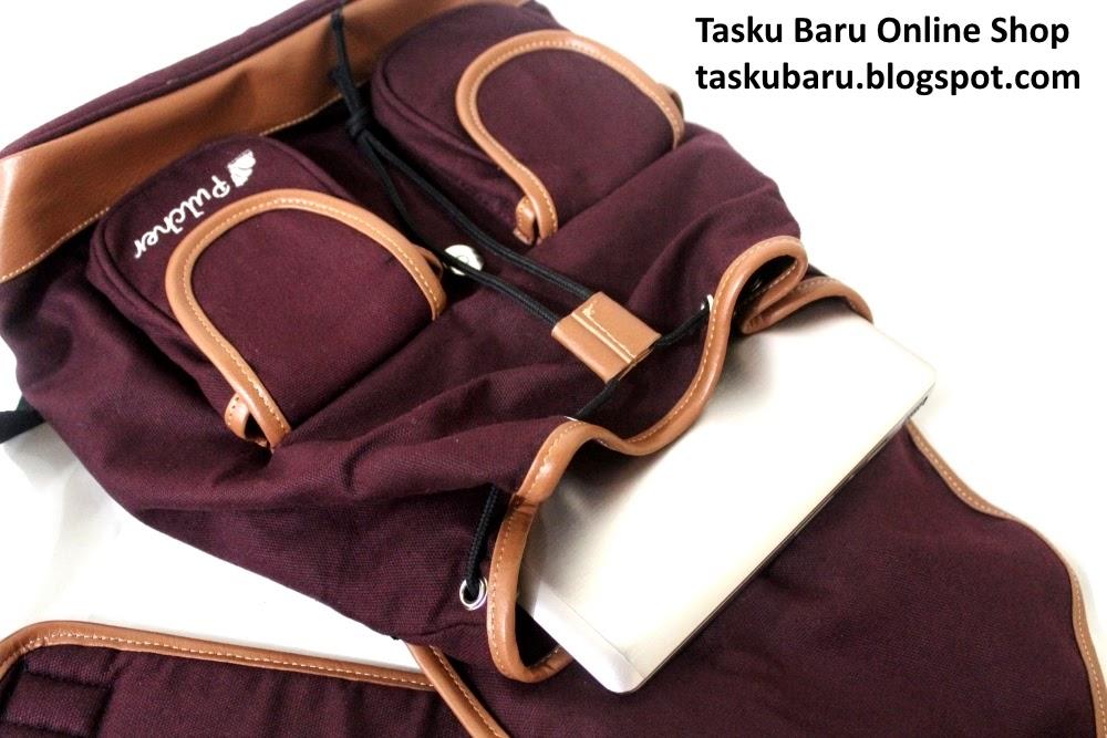 Harga & Jual Tas Bodypack Pulcher Fox Maroon Fashionable