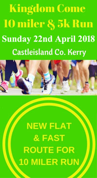 Castleisland 10 mile & 5k race...Sun 22nd Apr 2018