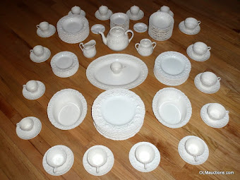 89 Piece Wedgwood Queen's Ware Embossed China Set