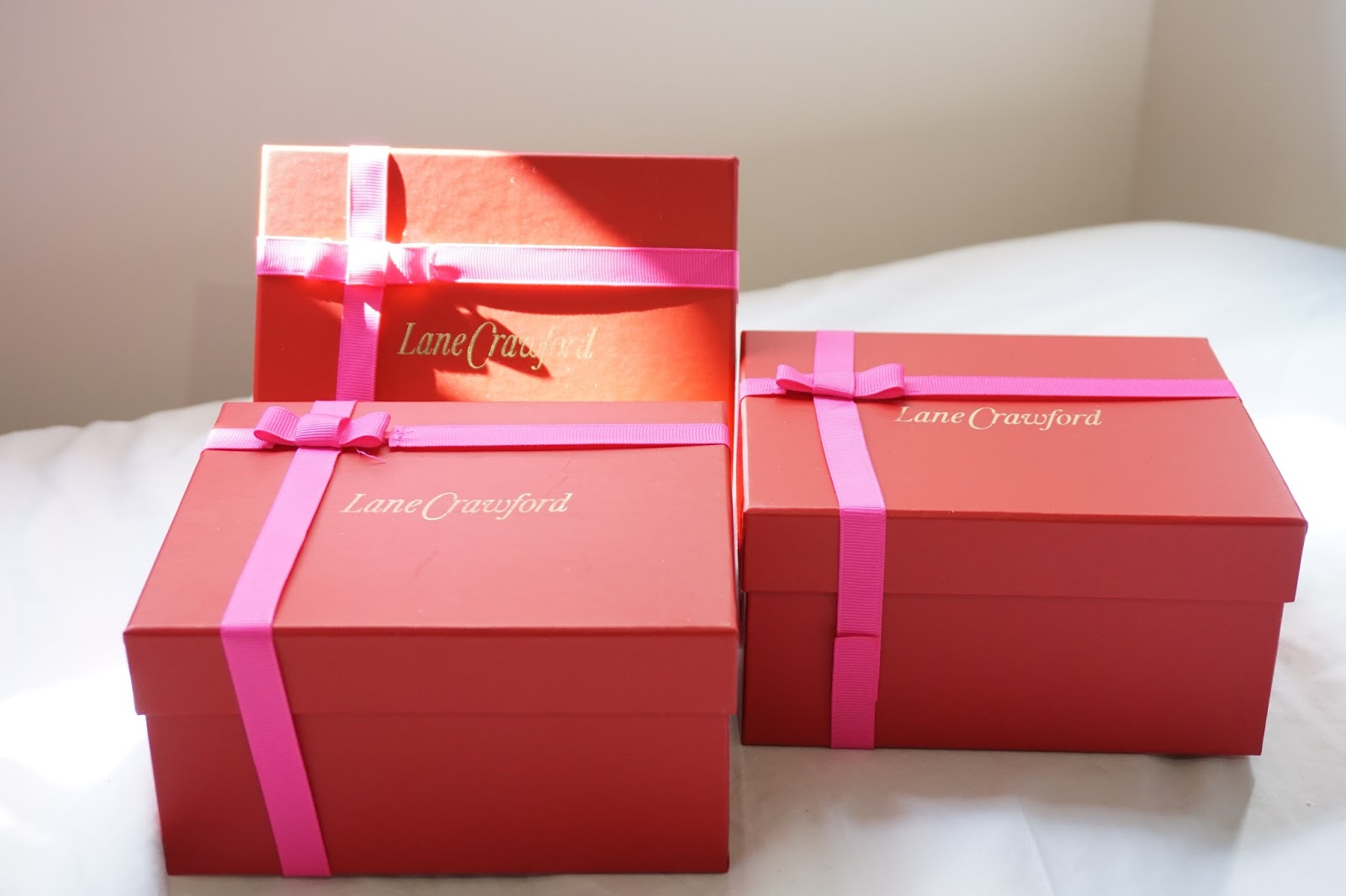 lane crawford christmas gift boxes wrapping 2014 red