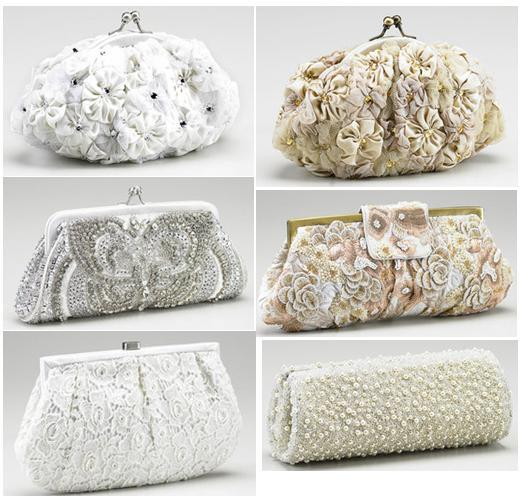 wedding clutch bridal - White Clutches collection