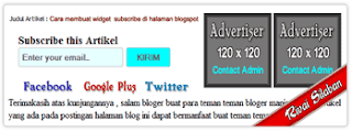 Cara Membuat Subscribe With space Advertise