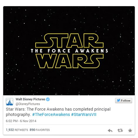 Star Wars 7 The Force Awakens Official Title