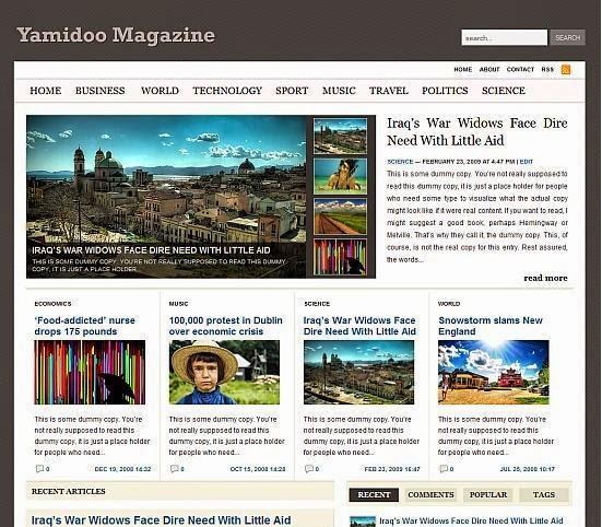 Yamidoo Magazine Blogger Template