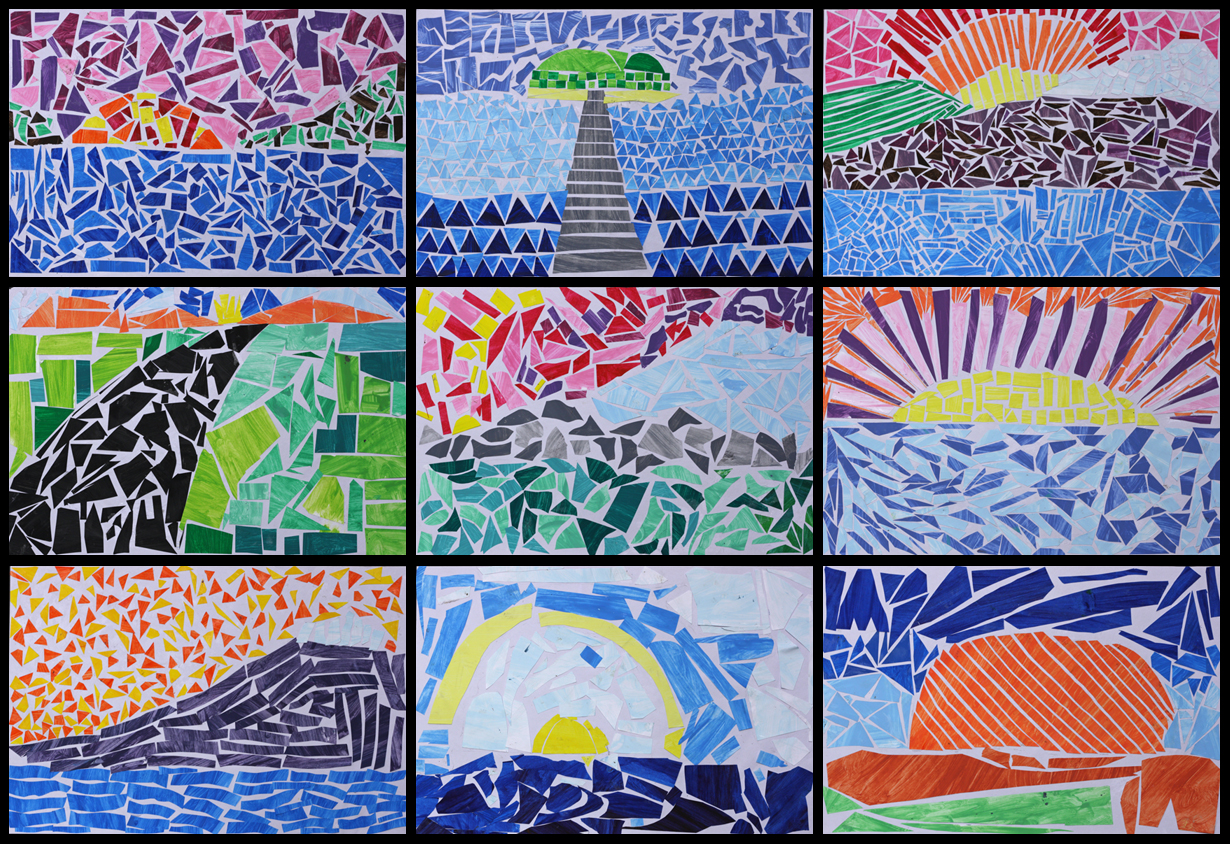 Art with mr hall mosaic landscapes sciox Image collections