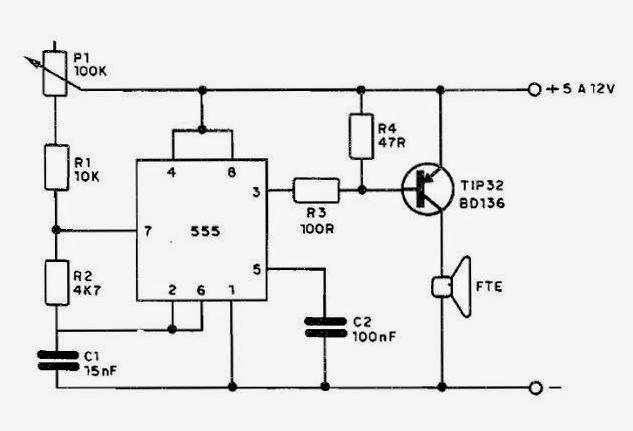 Circuito Oscilador 555 : Só circuitos oscilador com o ci