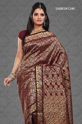 gold zari full work silk saree