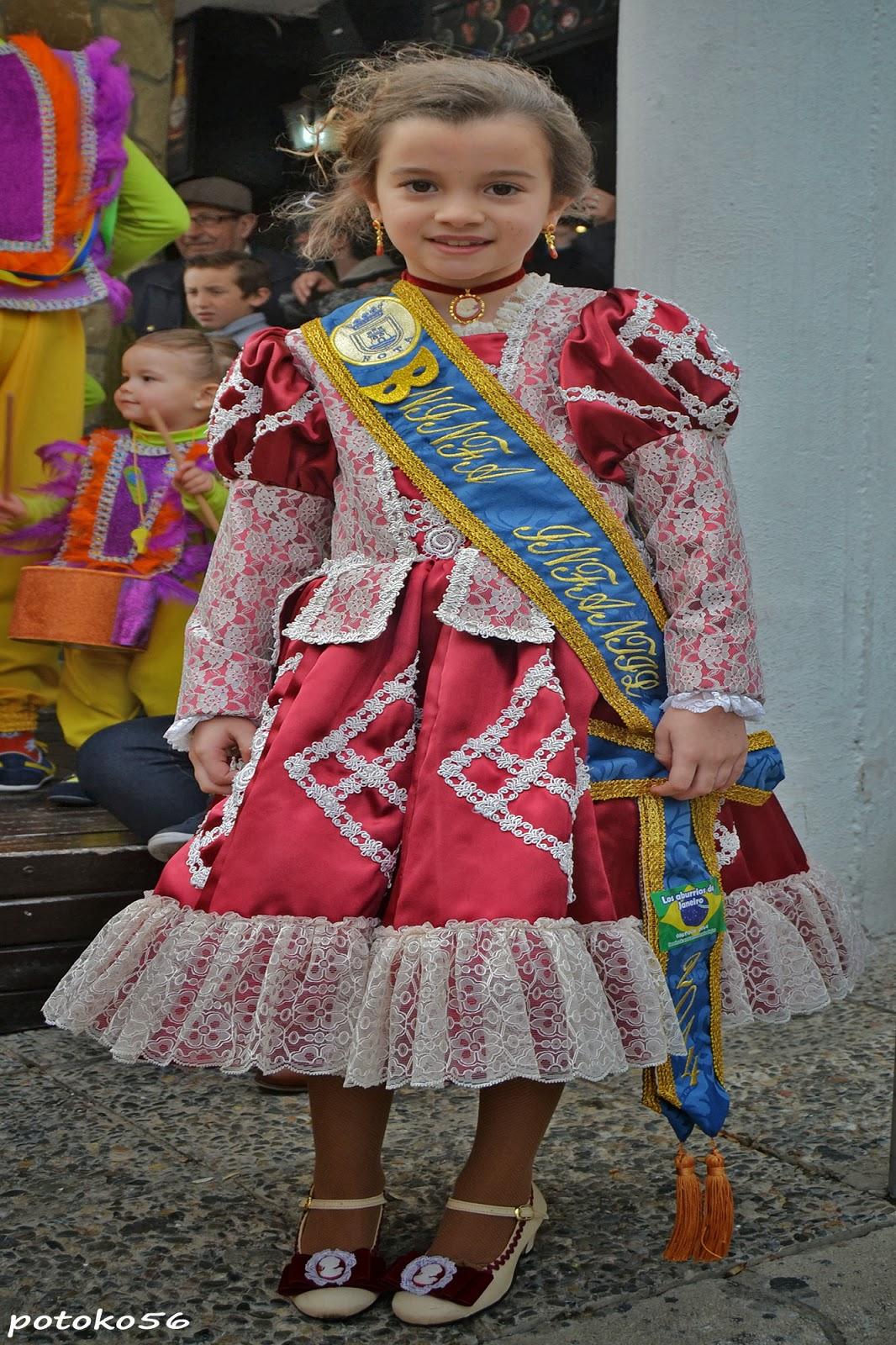 Anabel  Ninfa Infantil del Carnaval Roteño