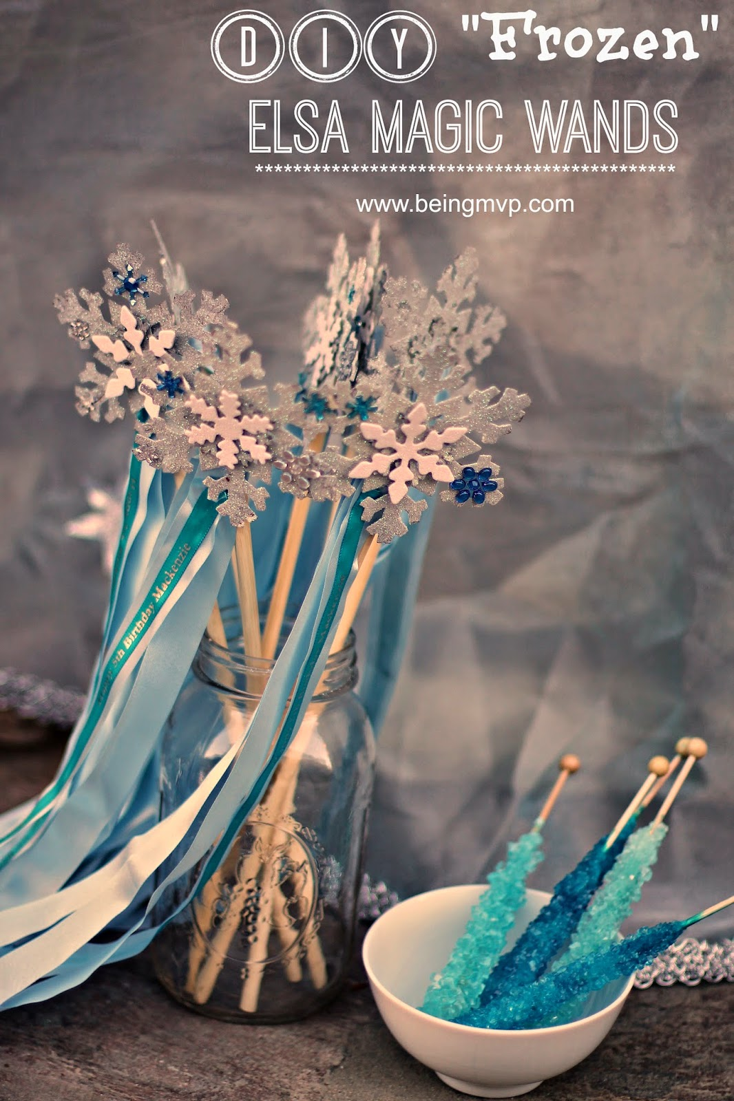 Being mvp diy frozen elsa magic wands frozen birthday for Birthday wand