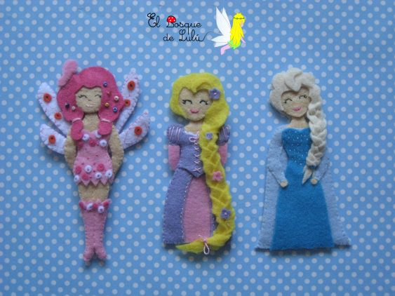 muñecas-en-fieltro-de-fieltro-personajes-Disney-princesas-niñas-tocados-diademas-personalizados-regalo-infantil