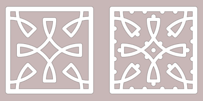 tile free paper cutting pattern